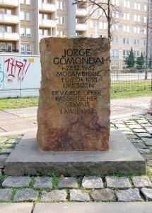 Jorge Gomondai Gedenkstein