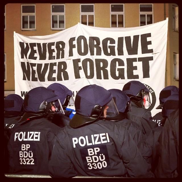 Antirassistische Demo in Schneeberg