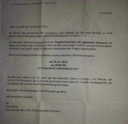 Einladung CDU Pieschen