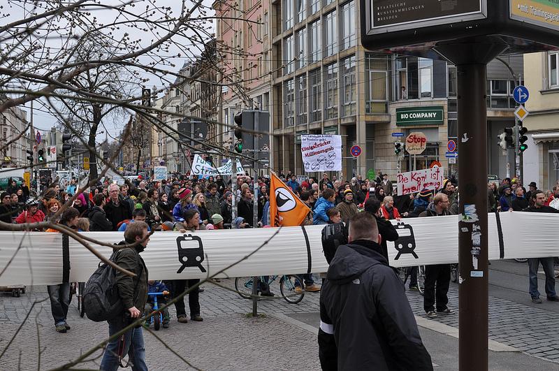 Demo Königsbrücker Straße